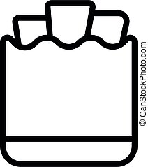 Paper eco bag icon, outline style