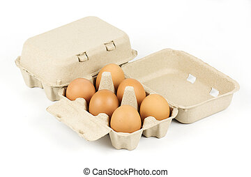 Paper Egg Tray isolated on white background