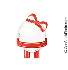 paper egg with ribbon