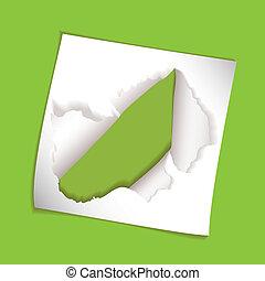 paper element rip hole