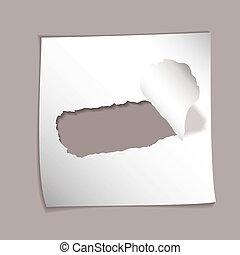 paper element torn hole