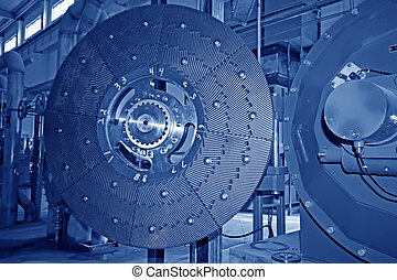 paper enterprise mechanical equipment in a factory