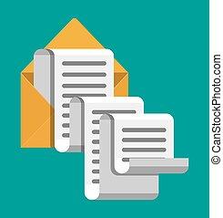Paper envelope letter correspondence.