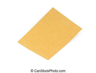 Paper envelopes isolated on white