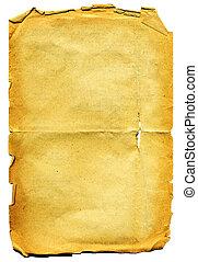 paper., esfarrapado, antigas, textured