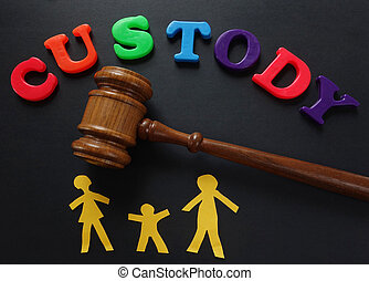 Custody - Paper family and gavel with Custody in play ...