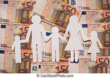 Paper family on euro notes