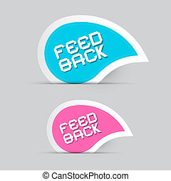 Paper Feedback Icons Illustration Isolated on Grey Background
