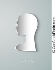 paper figure head of the girl