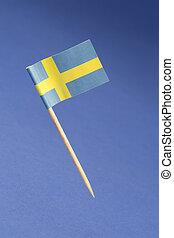 Paper flag of Sweden