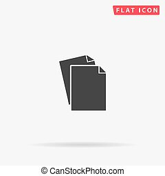 Paper flat vector icon