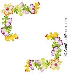 Paper flower border