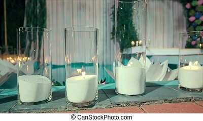 Paper Flower in Water Night Swimming Pool Candle