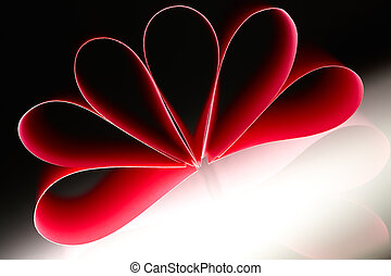 Paper flower - Red pape, beautiful abstract, shape of flower