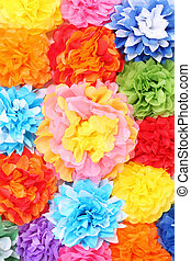 Paper flowers - Handmade artificial paper flowers background