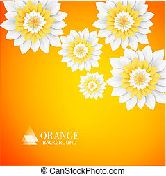 Paper flowers postcard.