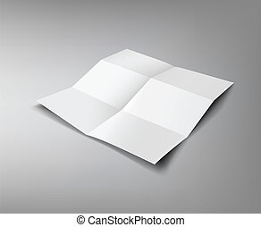 Paper Folded, six fold for business design background, vector illustration