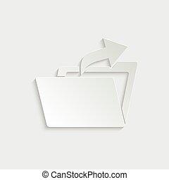 paper folder icon -  vector