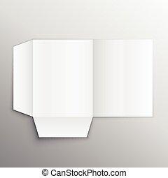 paper folder mockup design template