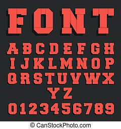 Paper font alphabet