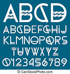 Paper font and numbers