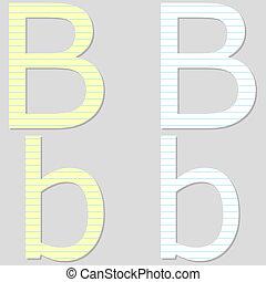 Paper Font Set Letter B