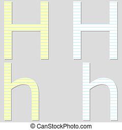 Paper Font Set Letter H