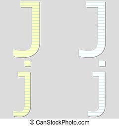 Paper Font Set Letter J