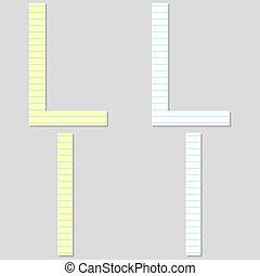 Paper Font Set Letter L