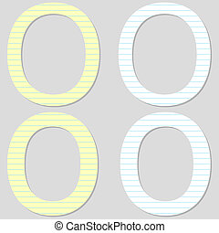 Paper Font Set Letter O
