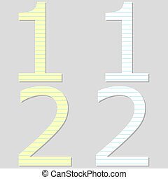 Paper Font Set Number 1 and 2