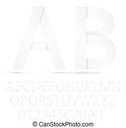 Paper font set