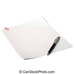 Paper for records,white leaf, white background