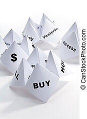 Paper Fortune Teller, concept of business decision