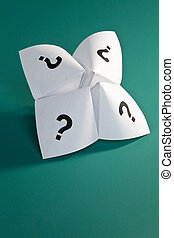 Paper Fortune Teller, concept of uncertainty