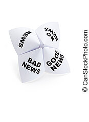 Paper Fortune Teller, Good News; Bad News; No News; News, ...