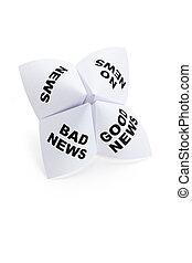 Paper Fortune Teller, Good News; Bad News; No News; News, ...