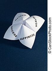 Paper Fortune Teller,concept of balance