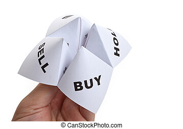 Paper Fortune Teller,concept of business decision