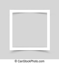 Paper frame shadow gray background