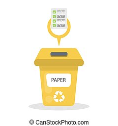Paper garbage container.