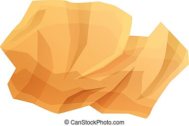 Paper garbage icon, cartoon style - Paper garbage icon. ...