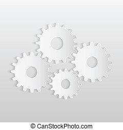Paper Gears Illustration