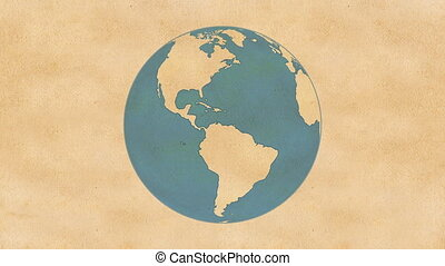 Paper Globe - Animation of Planet Earth, made of paper,...