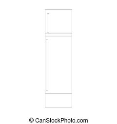 Paper glue icon in outline style isolated on white background.