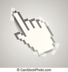 Paper hand cursor