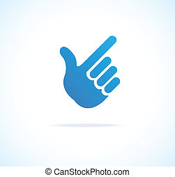 Paper Hand Cursor, Pointing icon vector on white