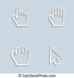 Paper Hand Cursors