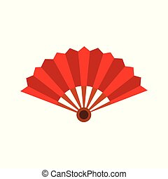 children s hand fan template vector illustration