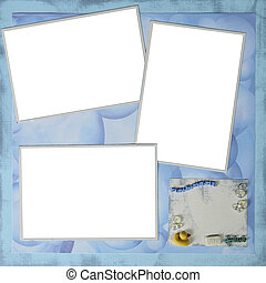 Paper Handmade Scrapbook Paper Page Layout to Insert Your Images